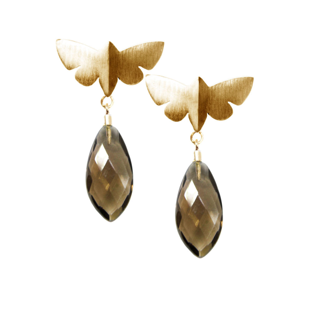 Dreamy Gold Butterfly 1 Voodoo Paradise Earrings Tanel Veenre Jewellery