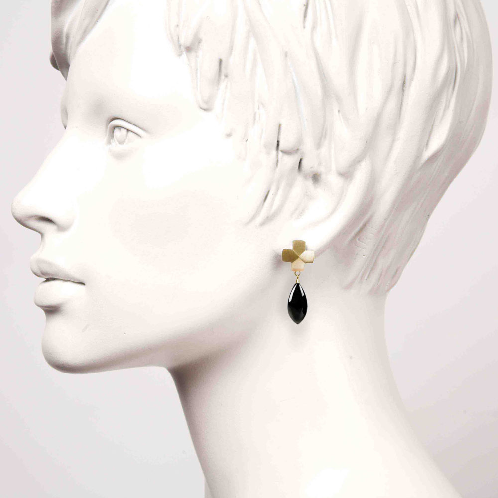 Dreamy Gold Cross 2 Voodoo Paradise Earrings Tanel Veenre Jewellery