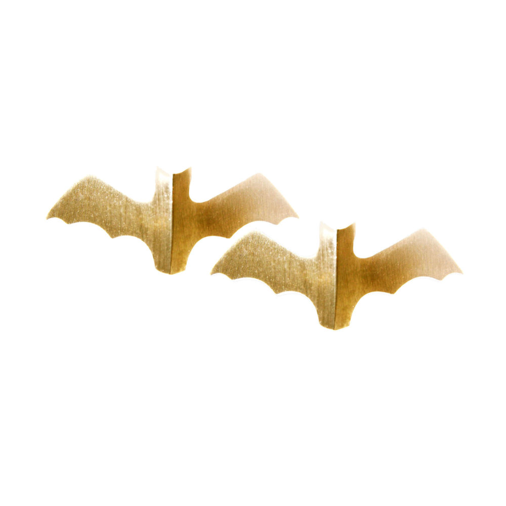 Gold Bat Studs 1 Voodoo Paradise Earrings Tanel Veenre Jewellery