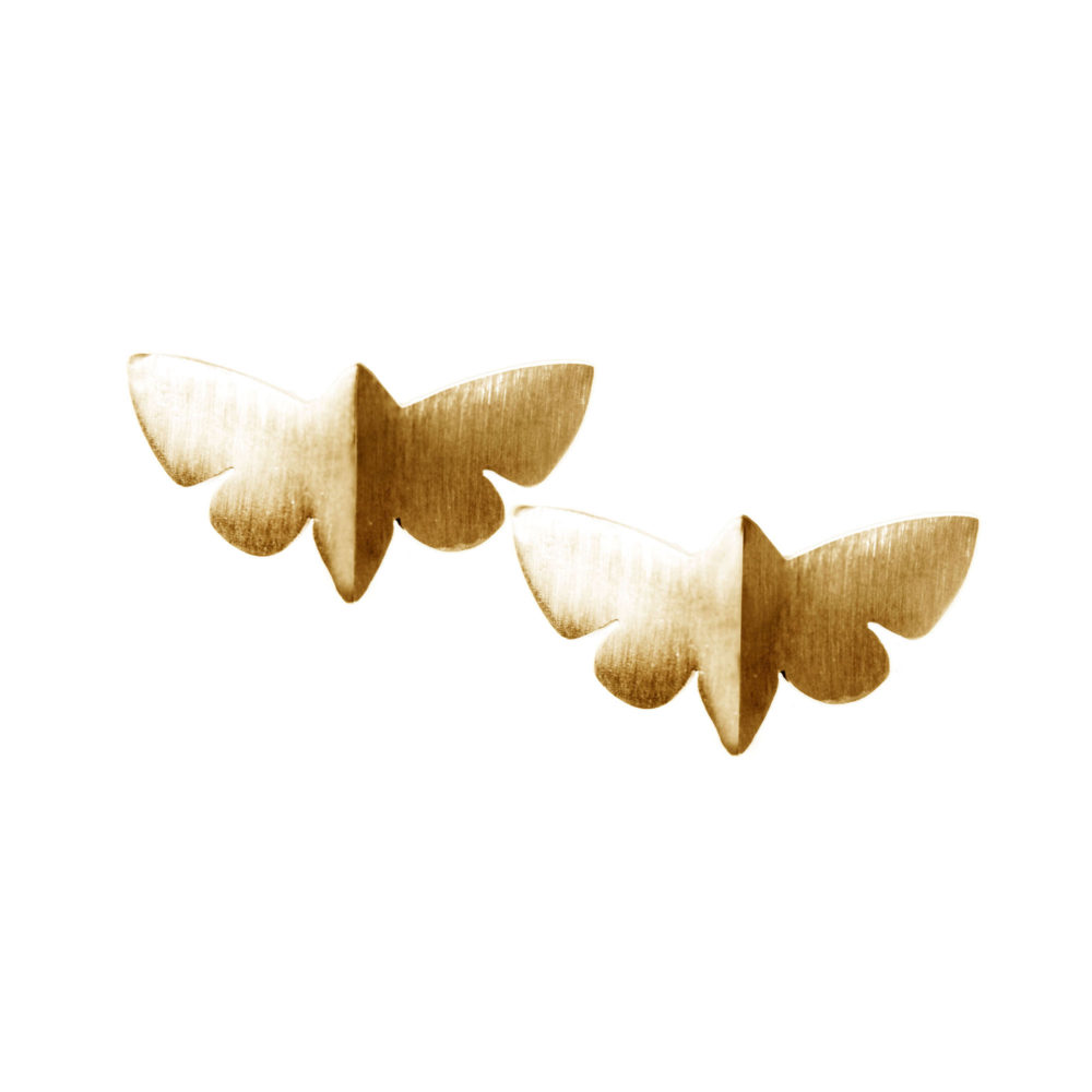 Gold Butterfly Studs 1 Voodoo Paradise Earrings Tanel Veenre Jewellery
