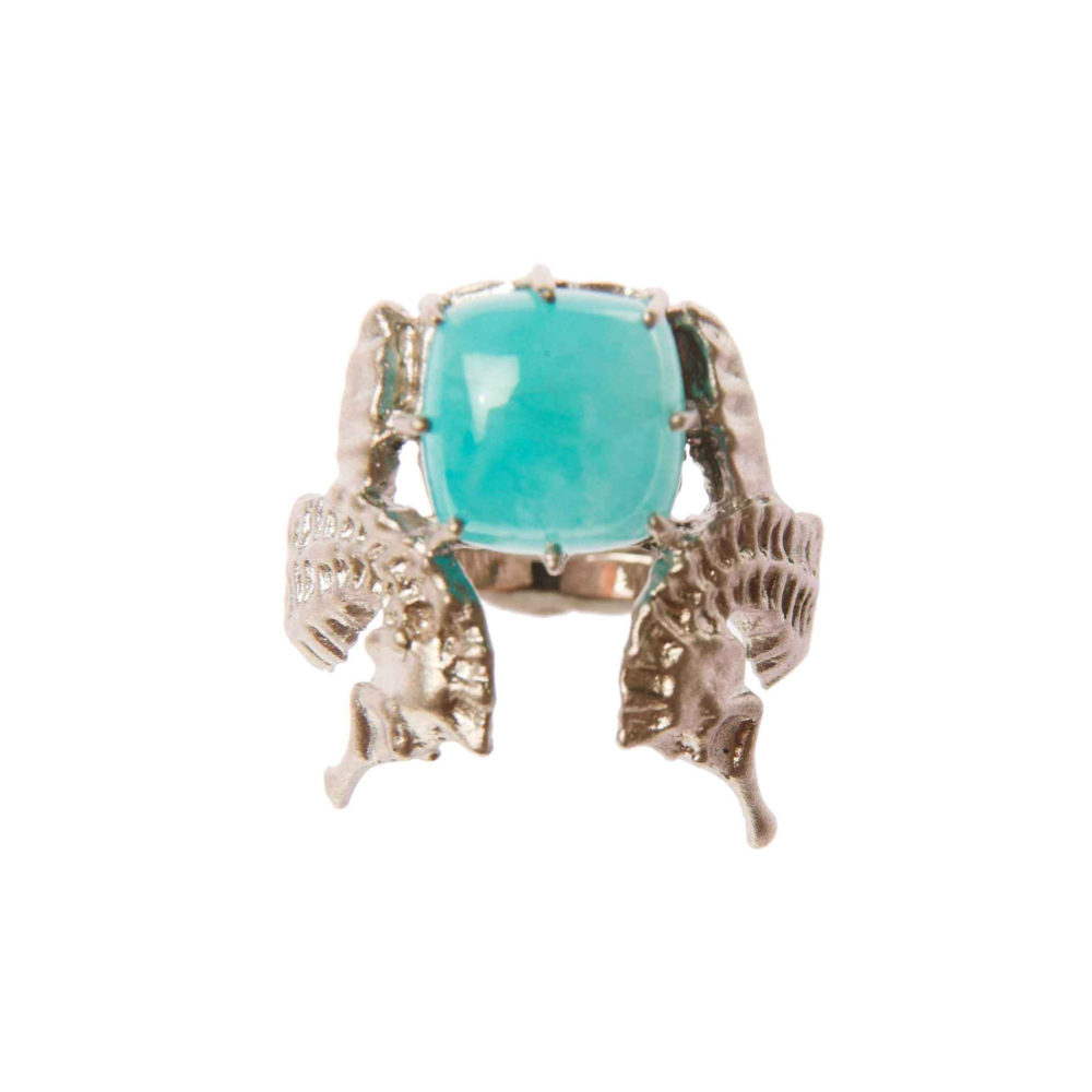 Hippo Blue Lagoon Ring 2 Hippo Couture Ring Tanel Veenre Jewellery