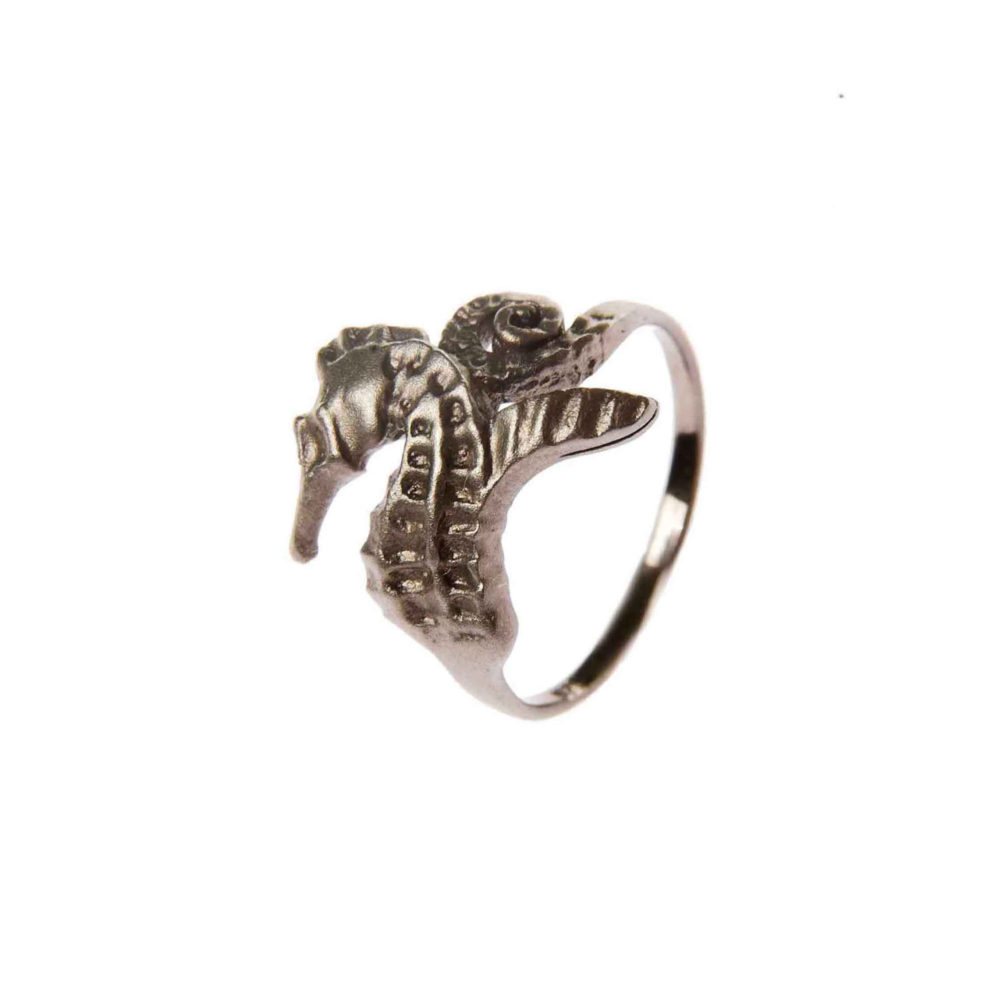 Hippo Ring Black 1 Hippo Couture Ring Tanel Veenre Jewellery