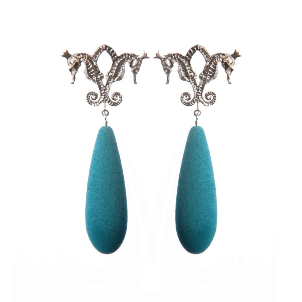 Ocean Hippo 1 Hippo Couture Earrings Tanel Veenre Jewellery
