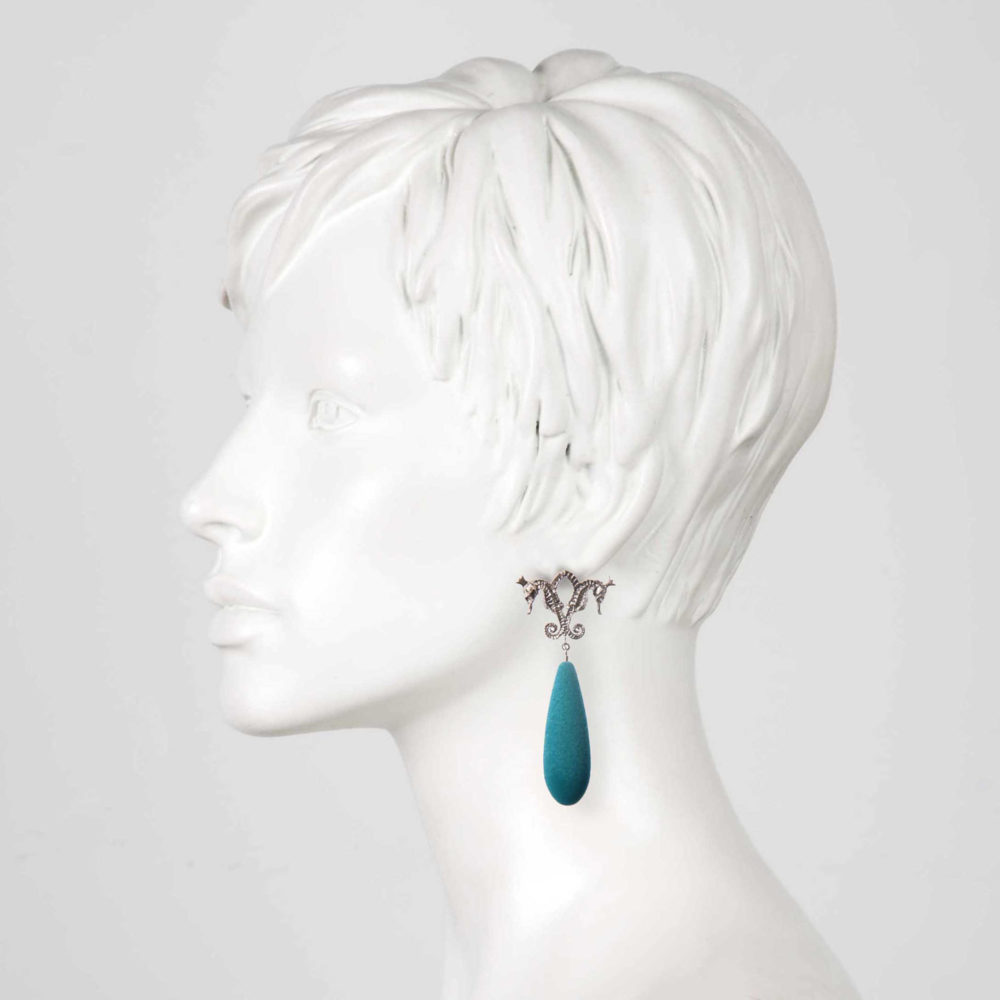 Ocean Hippo 2 Hippo Couture Earrings Tanel Veenre Jewellery
