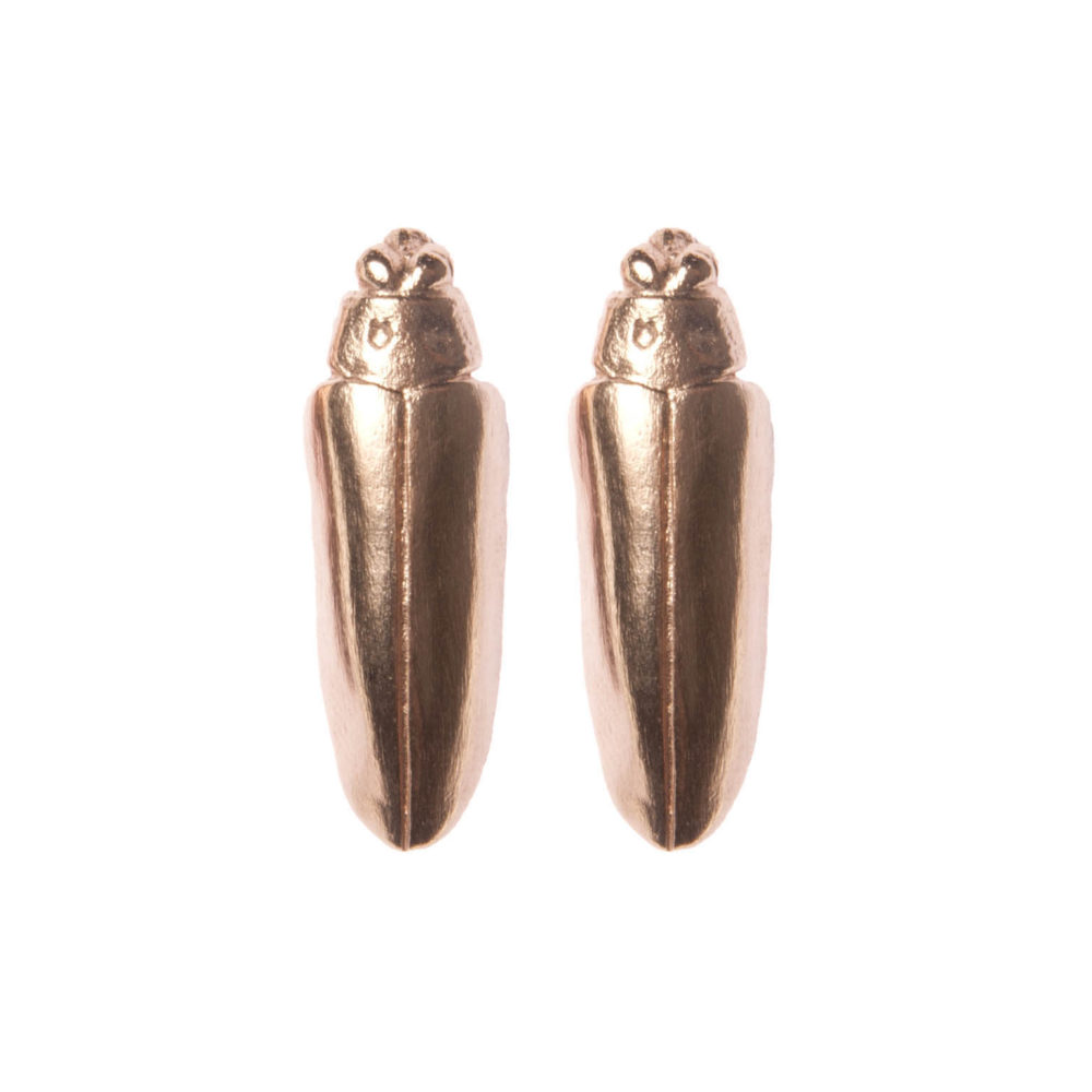 Roose Gold Bug1 Neffi Earrings Tanel Veenre Jewellery